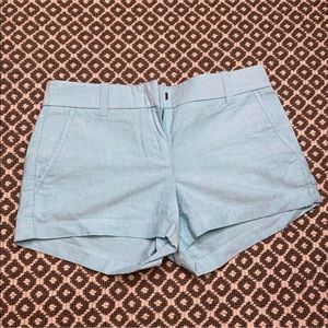 BLUE JCREW CHINO SHORTS